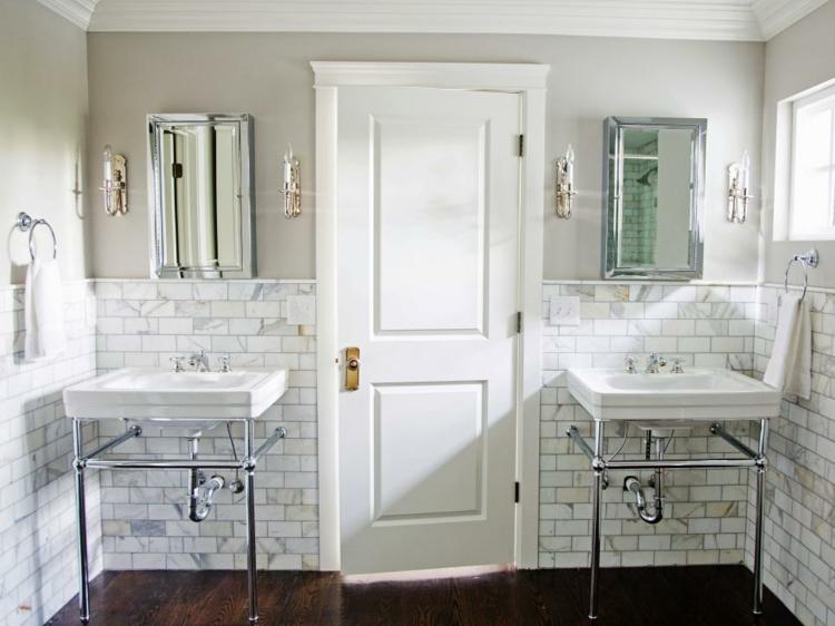 ideas de como decorar un baño pequeño industrial lavabos