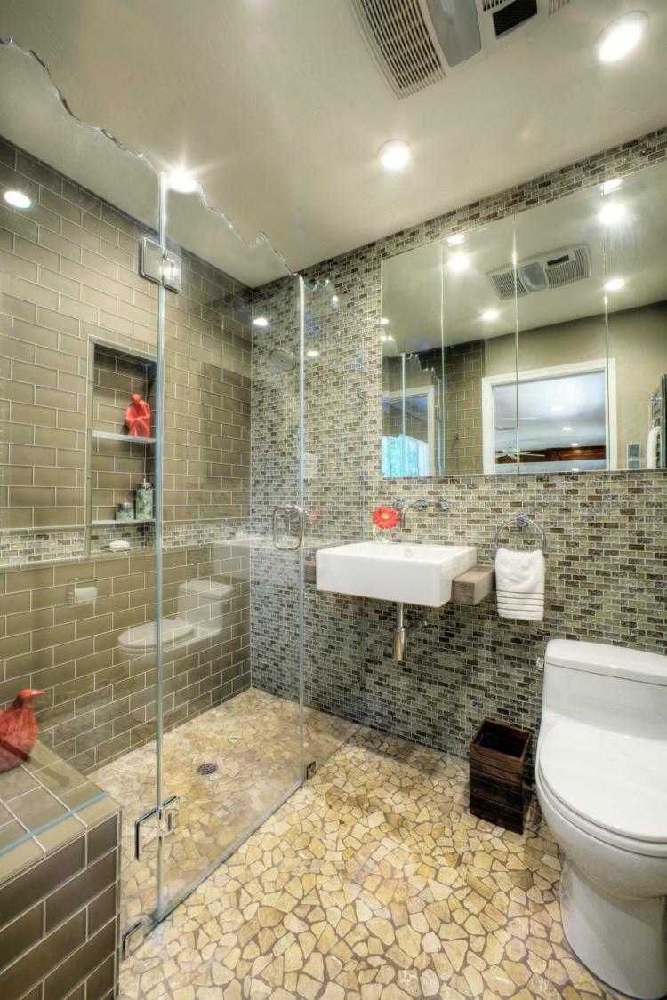 ideas de como decorar un baño pequeño led blanco