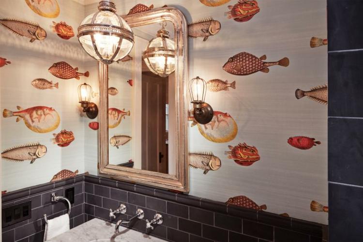 ideas de como decorar un baño pequeño rojo colores
