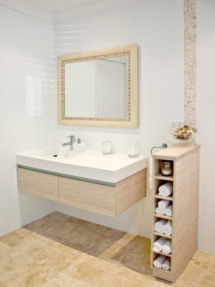 ideas de como decorar un baño pequeño separador gavetas