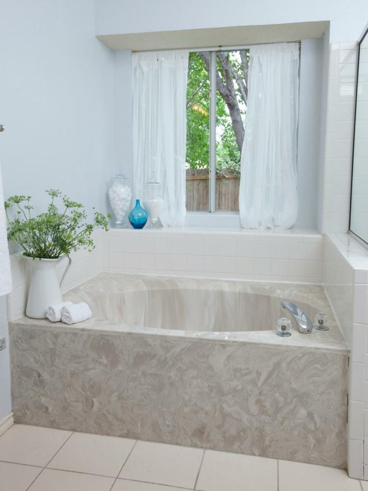 ideas de como decorar un baño pequeño ventanales bañera