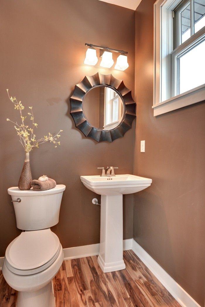 ideas decoracion baños pequeños espejos calido
