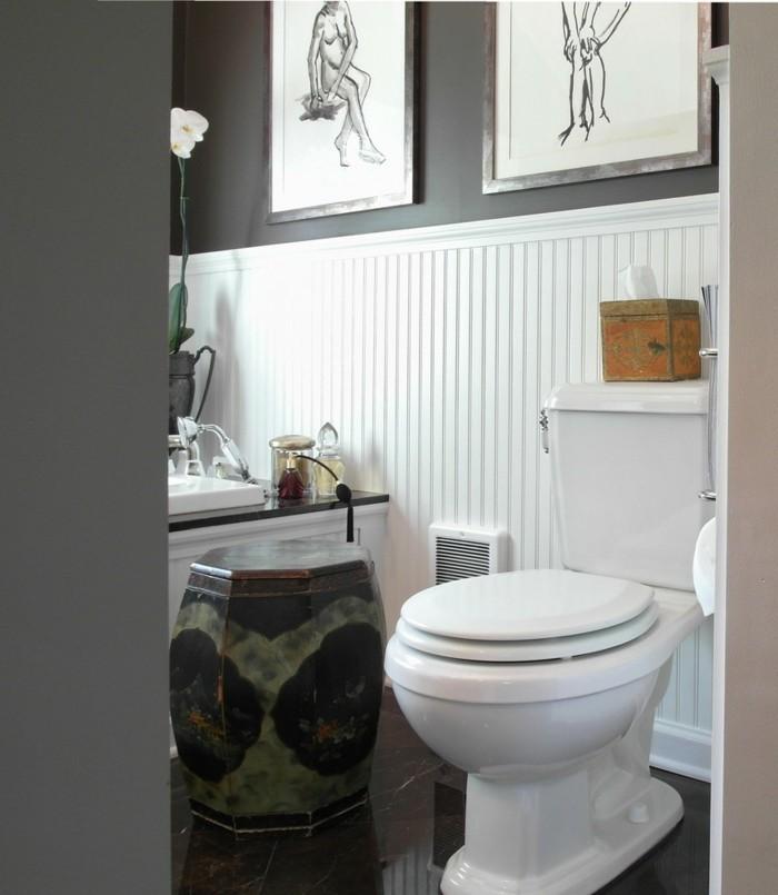 ideas decoracion baños pequeños vintage flores
