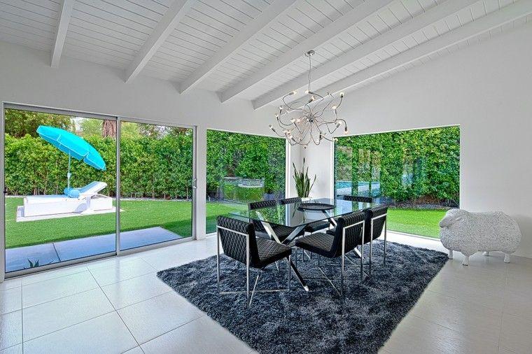 ideas decoracion comedor muebles negros moderno