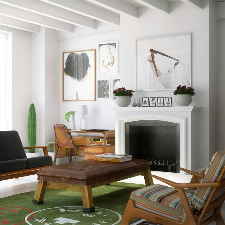 ideas decoracion de interiores pintura rayas luminoso