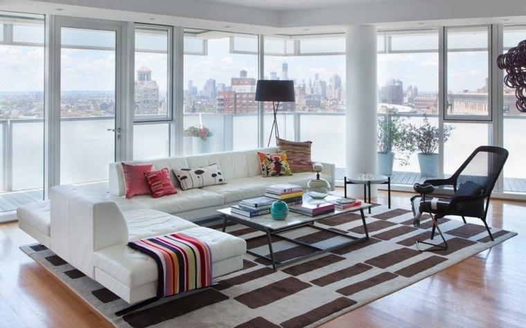 ideas decoracion de interiores salones alfombra preciosa moderno