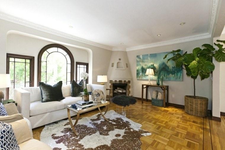 ideas decoracion de interiores salones cuadro grande moderno