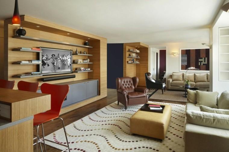 ideas decoracion de interiores salones estanterias moderno