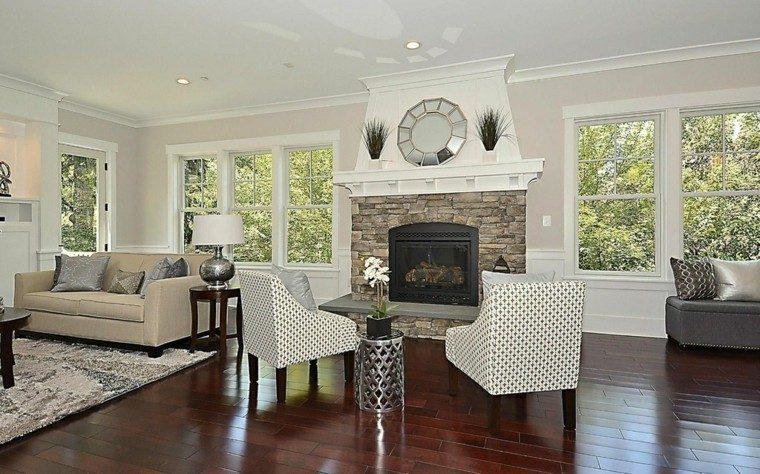 decoracion interiores salones sillones blancos moderna