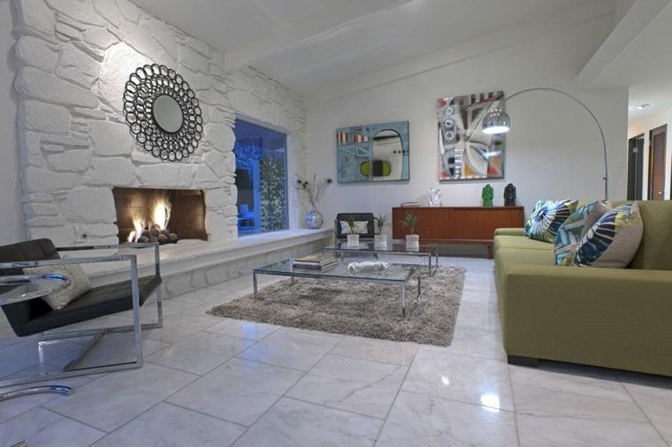 Ideas decoracion moderna para el sal n y el comedor - Espejo salon moderno ...