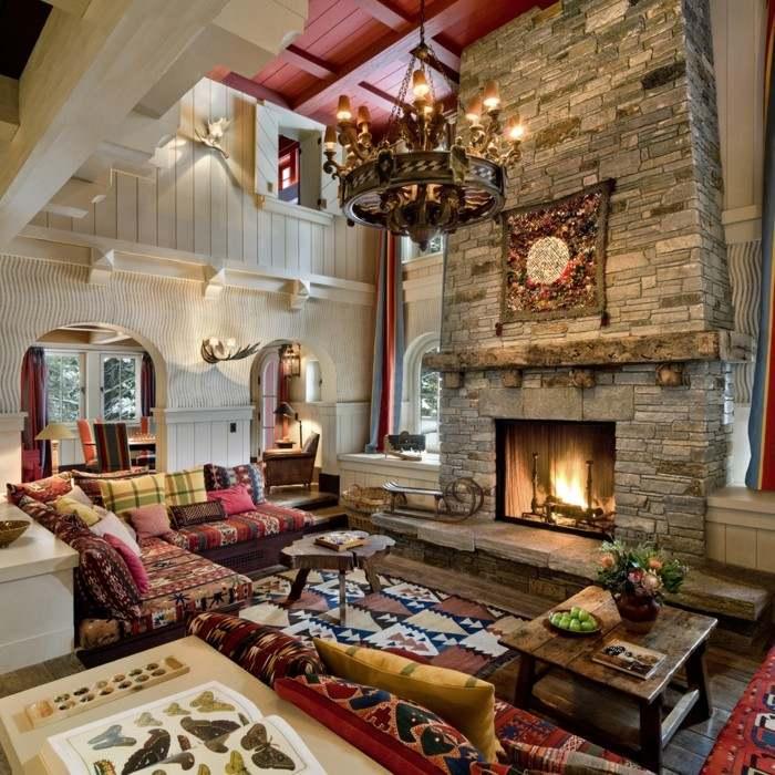 ideas diseño casas salones colores calido