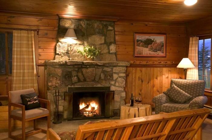 ideas diseño casas salones sillones fuego lamparas