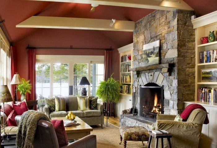 ideas diseño casas salones helechos