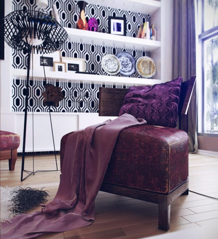 ideas diseño de interiores plantas mueble platos