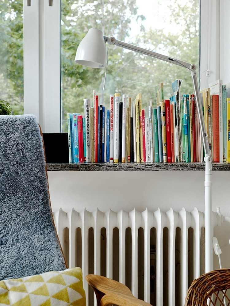 ideas diseño de interiores ventanas lamparas blanco