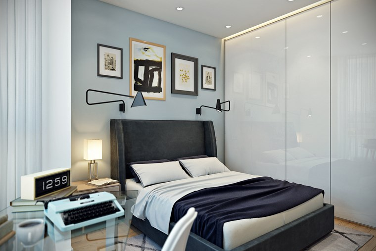 decorar habitacion dormitorio armario puertas blancas moderno