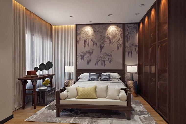 decorar habitacion dormitorio cama armario madera ideas