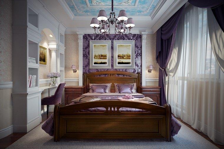 ideas para decorar habitacion dormitorio cama madera moderno