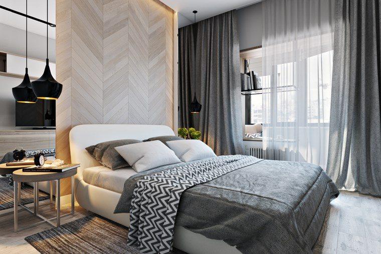 ideas para decorar habitacion dormitorio color gris ideas