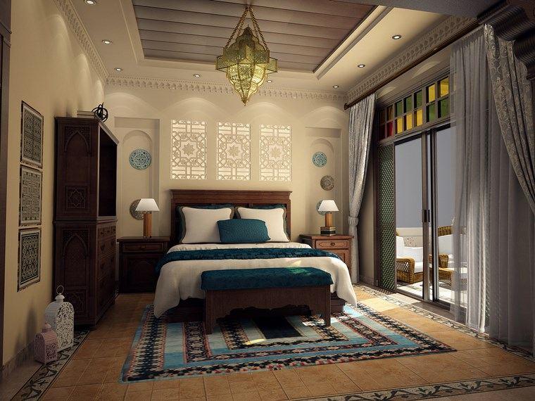 ideas para decorar habitacion dormitorio diseno estilo maroqui moderno