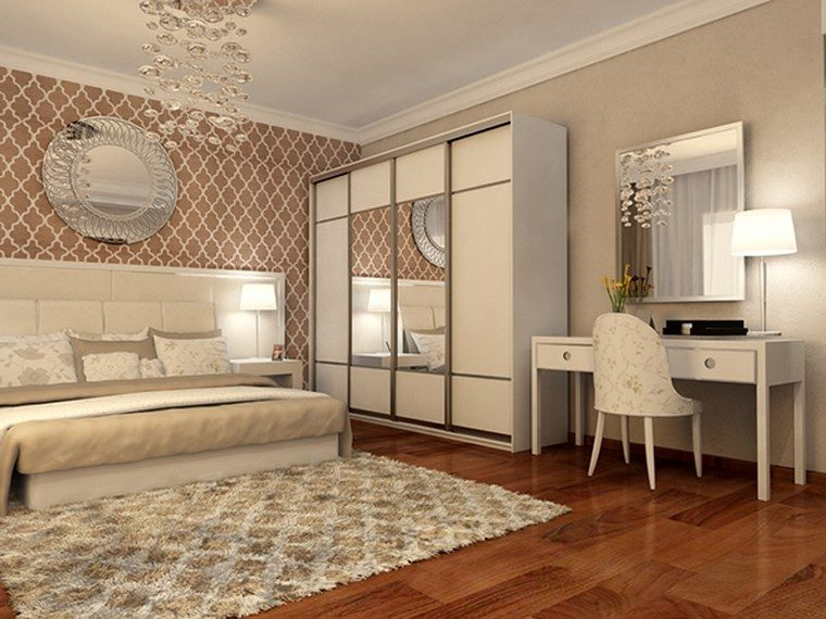 decorar habitacion dormitorio espejo redondo ideas