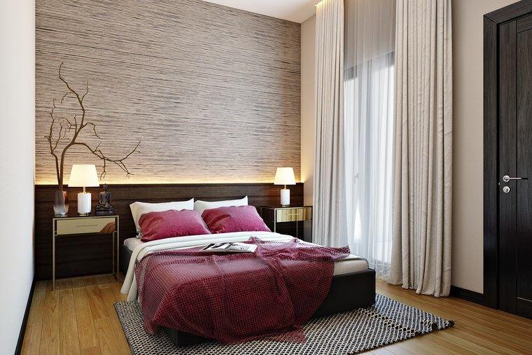 decorar habitacion dormitorio estrecho moderno ideas