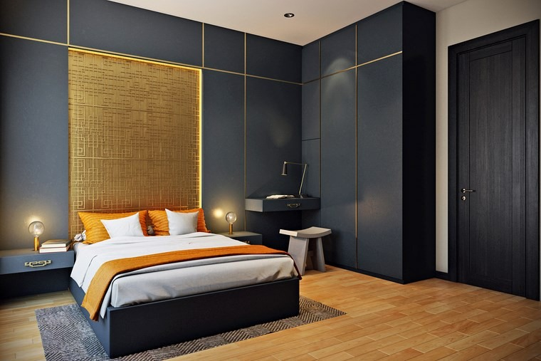 decorar habitacion dormitorio paredes negras ideas