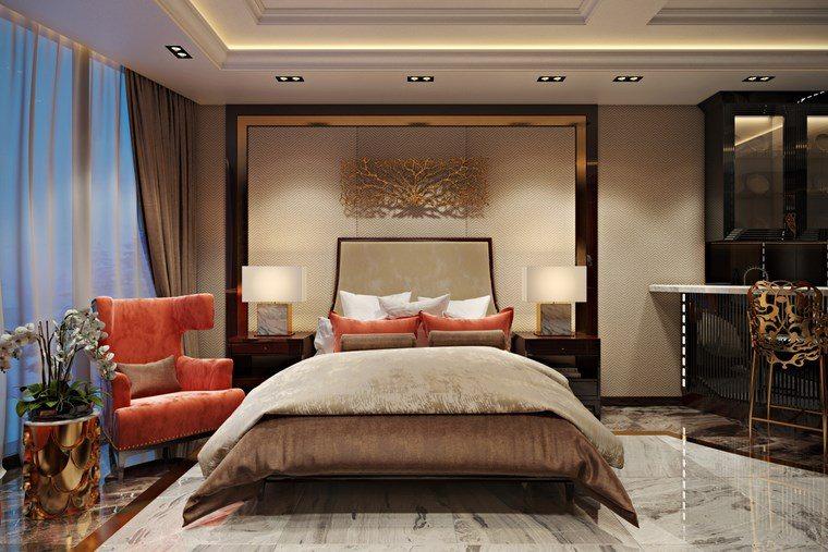 decorar habitacion dormitorio sillon naranja ideas