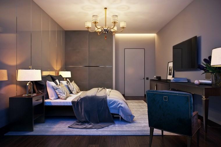 decorar habitacion dormitorio sillon verde ideas
