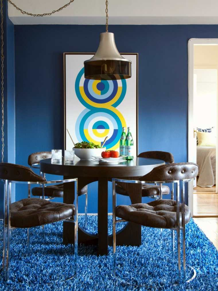 ideas para reformar mi casa azules comedores cuero