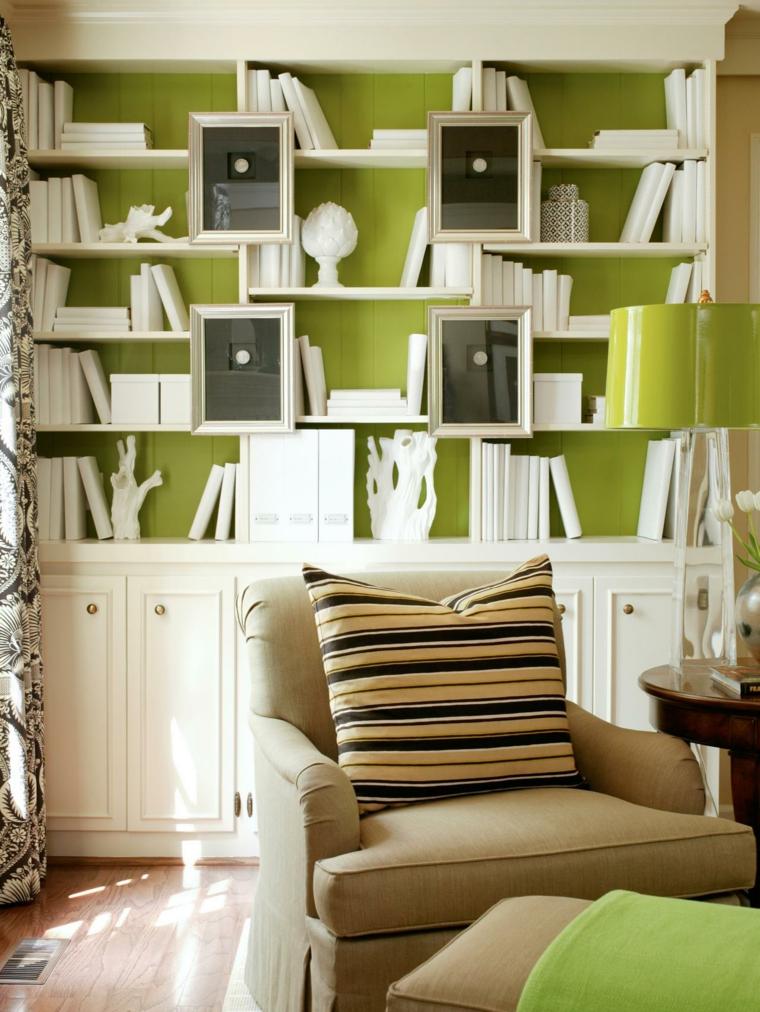 ideas para reformar mi casa sala lectura rayas