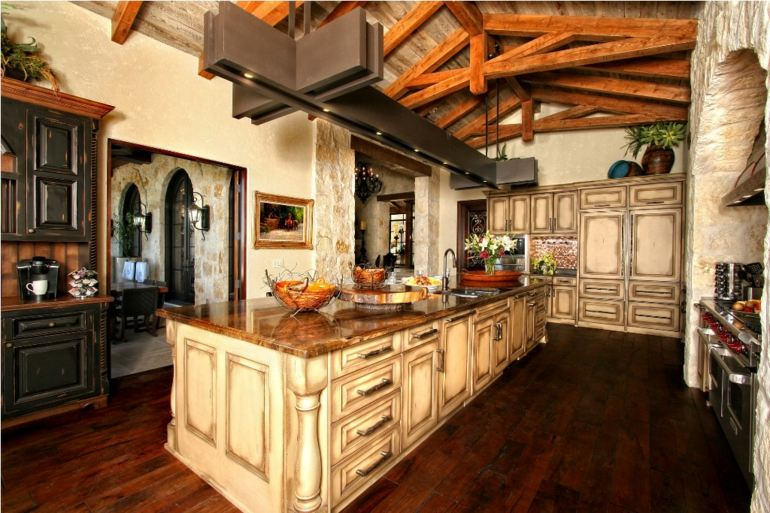 Decoracion de cocinas rusticas 50 ideas originales for Kitchen cabinets lowes with old world metal wall art
