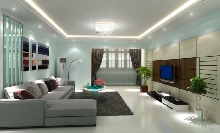 Focos led indirectos para iluminar el sal n 50 ideas - Iluminacion en salones ...