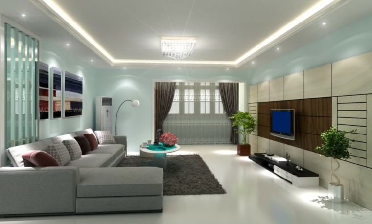 Focos led indirectos para iluminar el sal n 50 ideas - Iluminacion led salon ...