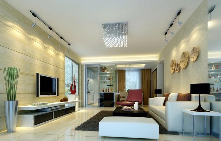 Iluminacion salon y dise os con luminarias variadas - Ideas iluminacion salon ...