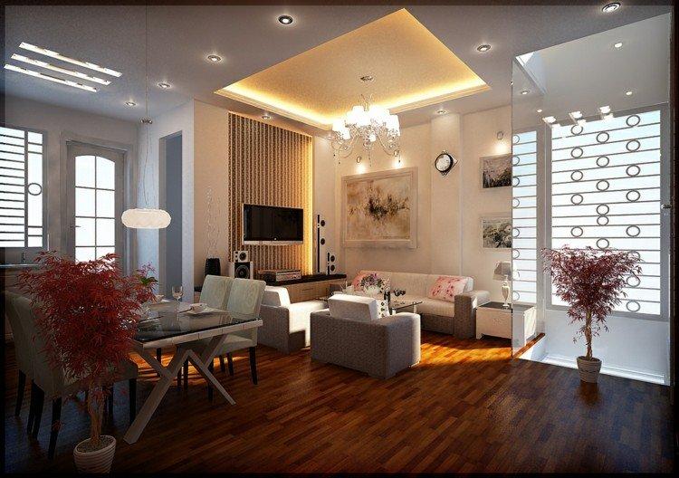 Iluminacion salon y dise os con luminarias variadas - Iluminacion de interiores ...
