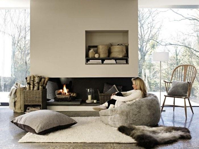 invierno decoracion y acentos naturales