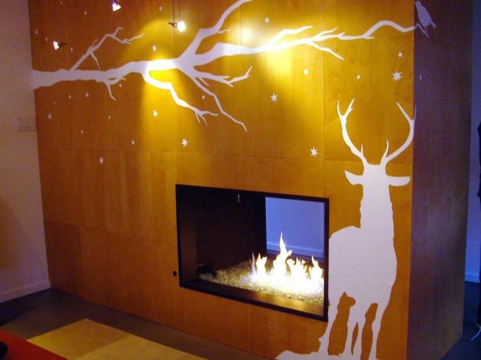 invierno decoracion detalles soluciones paredes chimenea