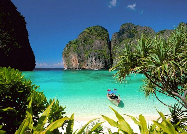 islas destinos turimso detalles bote mar
