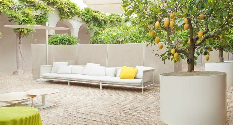 jardin sofa larga blanca preciosa ideas