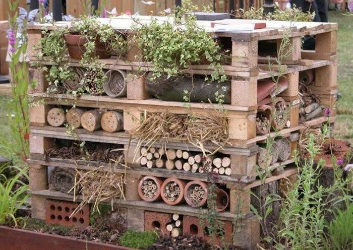 jardinera funcional palllets madera