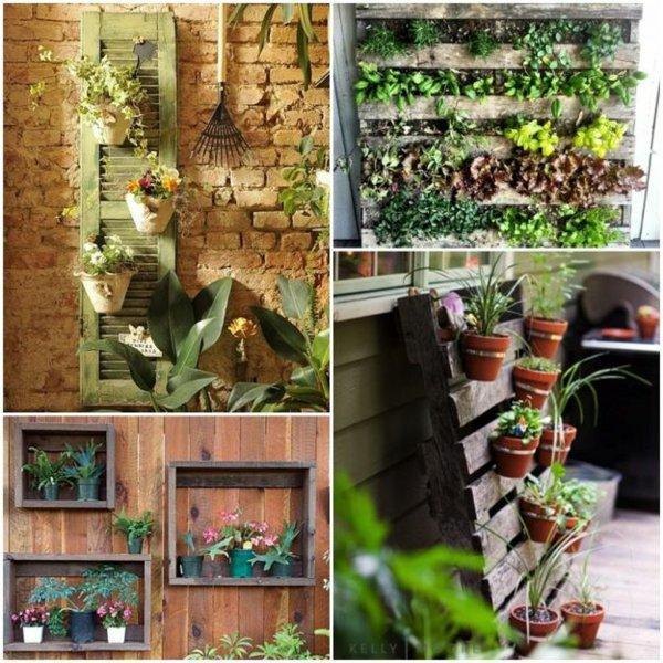 ideas originales artesania jardineras