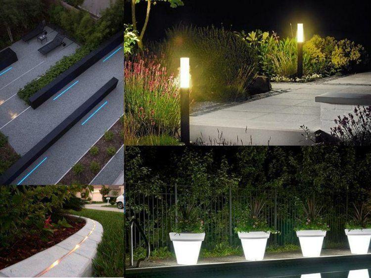 jardines bombillas led futurista imagen variantes