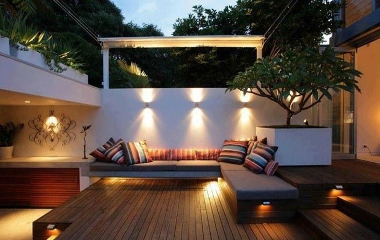 jardines bombillas led ideas diseños elementos