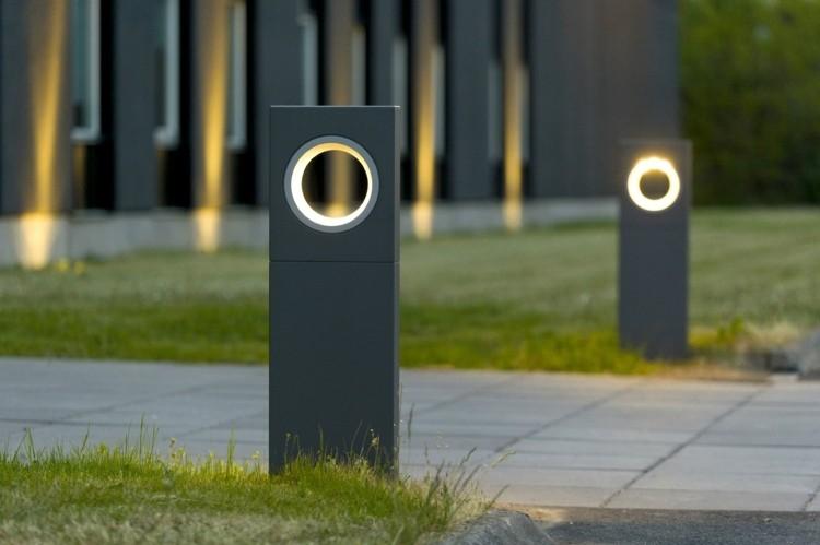 jardines bombillas led ideas modernos grises