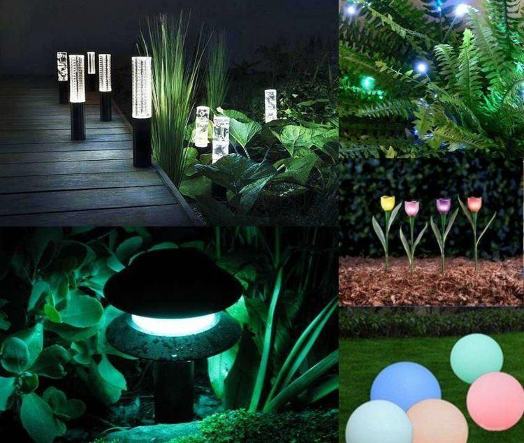 jardines bombillas led ideas plantas suelos
