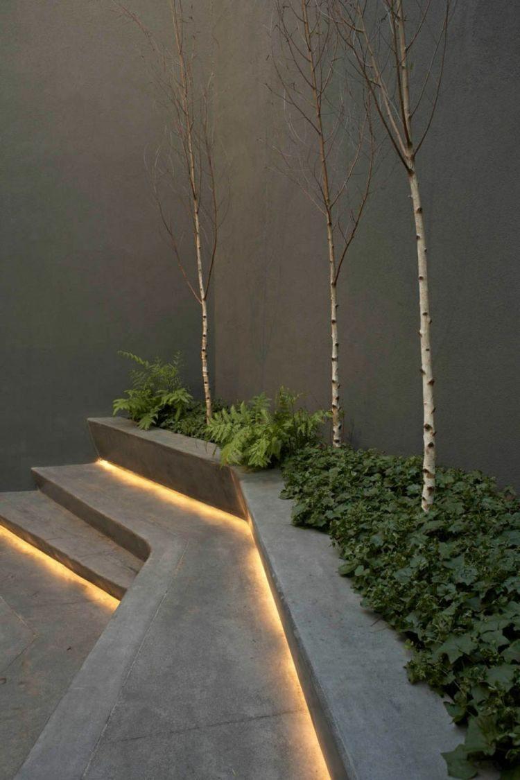 jardines bombillas led ideas ramas escalones