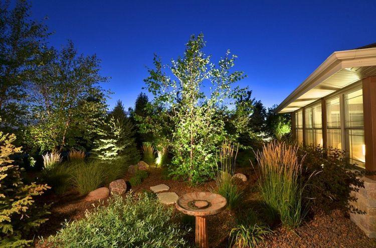 jardines bombillas led mesas mantillo