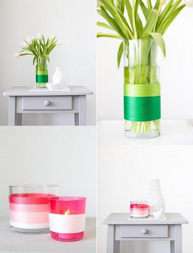 jarrones hechos casa bonitos cristal ideas