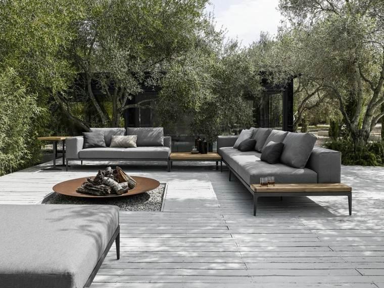 lugar fuego sofa aire libre preciosas ideas